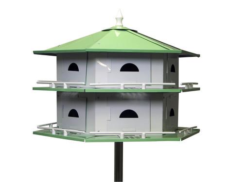 HEATH - Deluxe Convertible 6/12 Room Purple Martin Bird House - Aluminum (HEATHAH12SR) 085199033084