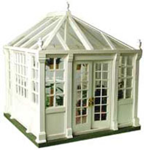 """HOUSEWORKS - 1"""" Scale Dollhouse Miniature - Conservatory Kit, Unfinished (9900) 022931099007"""