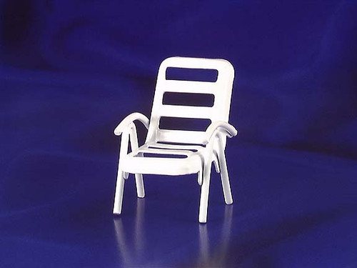 INTERNATIONAL MINIATURES - 1 Inch Scale Dollhouse Miniature Furniture - Lawn Chair (IM65367) 731851653670