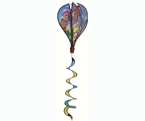 IN THE BREEZE - Chickadee Birdhouse Hot Air Balloon Wind Spinner (ITB1053) 762379110536