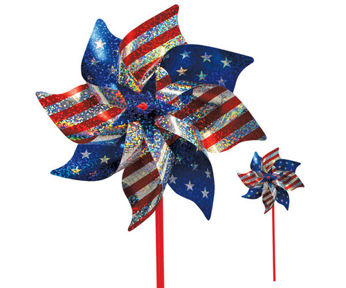 IN THE BREEZE - Stars and Stripes Mylar Pinwheels 8 pcs ITB2749 762379027490