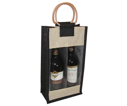 BELLA VITA - J2 Black - Jute Two Bottle Bags (J2BLACK) 822372102027