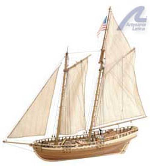 ARTESANIA LATINA - VIRGINIA American Schooner Wooden Ship Model Kit (22135) 8421426221350