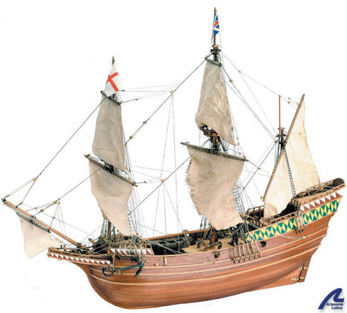 ARTESANIA LATINA - MAYFLOWER Wooden Ship Model Kit (22451) 8421426069242
