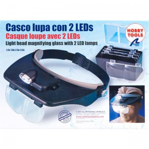 ARTESANIA LATINA - Hands Free Magnifier Glasses w/2 LED Lights (270541) 8421426170542
