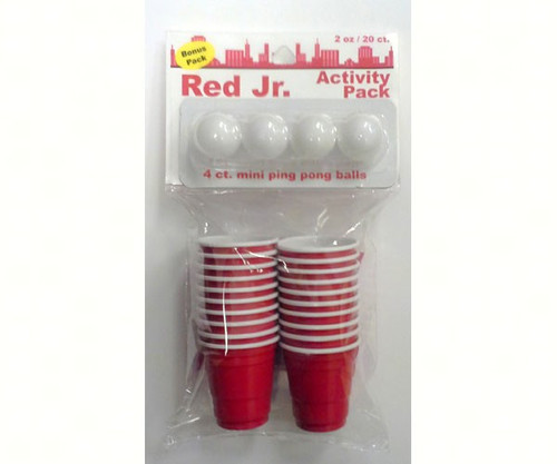 LAMI PRODUCTS - Red Jr. Ping Pong Balls & Cups Game Activity Pack (LM12030) 637118120308