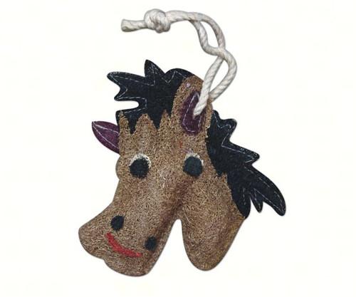 LOOFAH ART - Horse - Natural Loofah Kitchen Scrubber (LOOFF128) 097889852677