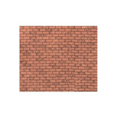 MODEL BUILDERS SUPPLY - Paper- Red Brick 1:100 2Pc (PSP-97)