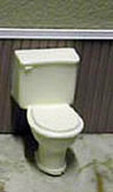 "MODEL BUILDERS SUPPLY - 1/2"" Scale Dollhouse Miniature - 1/2 Inch Scale High Back Toilet (TOL24)"