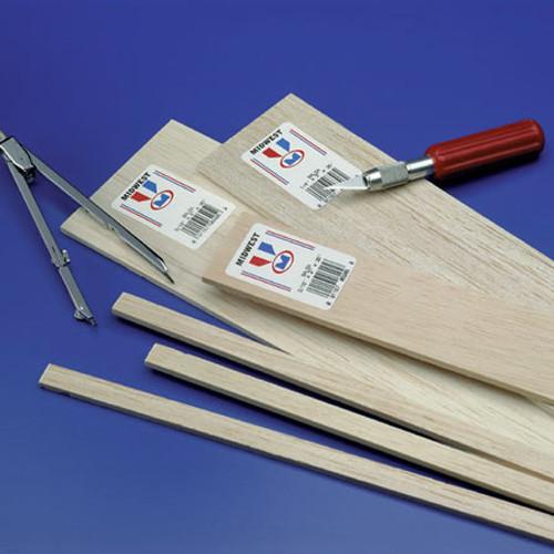 "MIDWEST - Balsa Wood 1/4x1/2x36"" (6069) 091157060696"