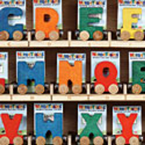 MAPLE LANDMARK - Letter D Wooden Alphabet Name Train Car (10004) 679952100047