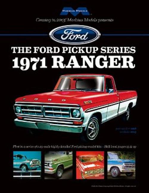 MOEBIUS - 1208 1/25 '71 Ford Ranger Pick-up Plastic Model Truck Kit 895137001934