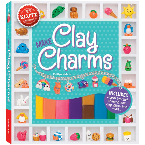 KLUTZ - Clay Charms Book Kit - (K549856) 730767498566