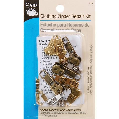 DRITZ - Clothing Zipper Repair Kit - (312) 072879262391