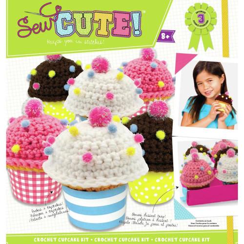 COLORBOK - Sew Cute! Crochet Cupcake Kit (72686A) 765468726861