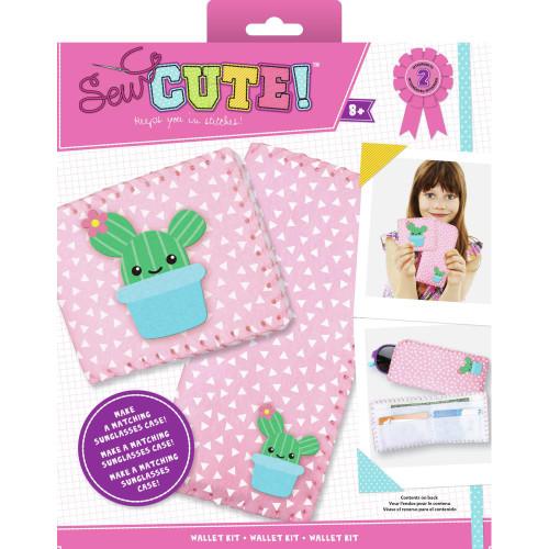 COLORBOK - Sew Cute! Felt Wallet Kit Cactus (SCWALLET) 765468743103