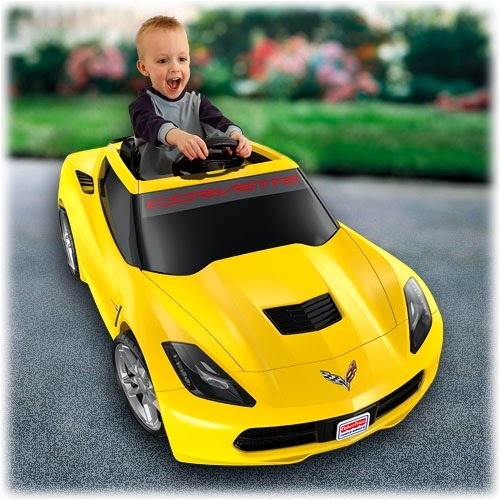 Power Wheels CBJ09 Yellow Corvette Parts