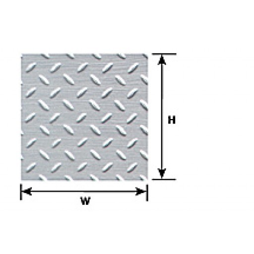 ALL SCALES Diamond Plate (plastic patterned sheet)