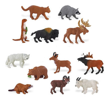 Small Miniature Animals & People Figures