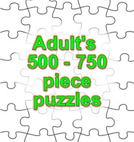 500 - 750 PIECE PUZZLES