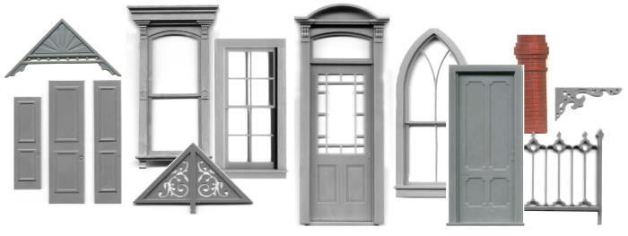 N SCALE Windows, Doors and Decorative Trims