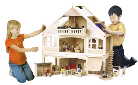 "1"" Scale CHILDREN'S PLAY DOLLHOUSES"