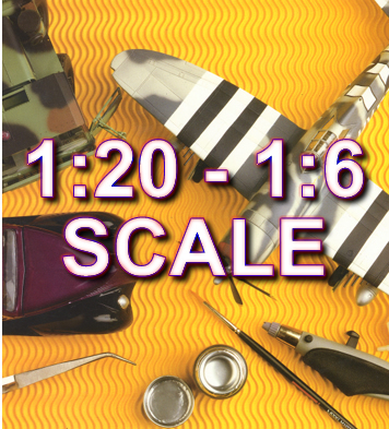 1:20 to 1:6 Scale Model Kits