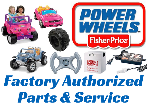 We are Mattel Fisher Price's #1 recommended POWER WHEELS Ride-On Toy Factory Authorized Parts & Service Center