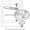 Parts lookup Echo GT 225 Brush Blade 215311 OEM diagram