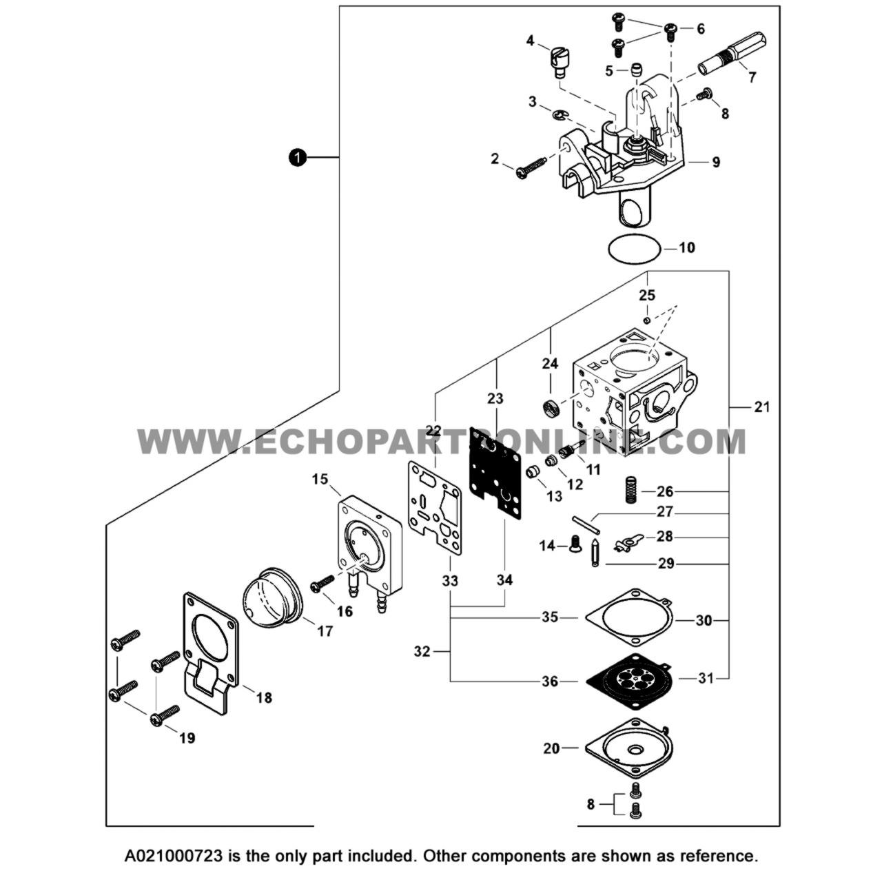 Echo SRM-230 Carburetor A021000723 OEMEcho Parts Online