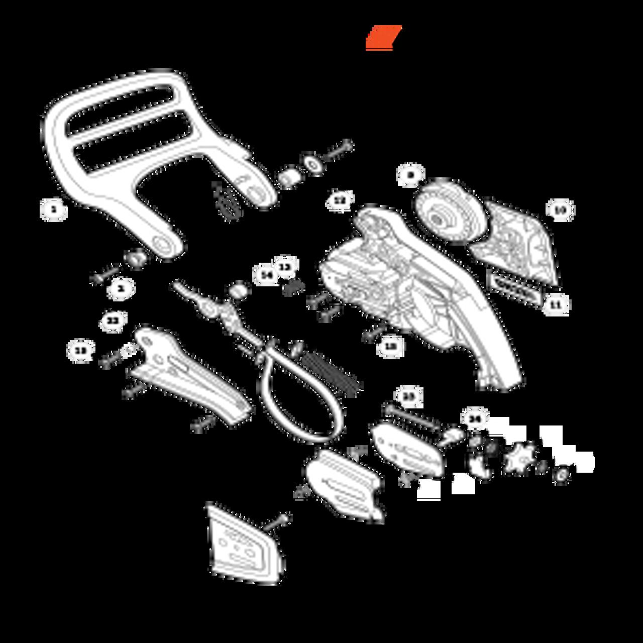 CS-400F SN C27812001001 - C27812999999 - Chain Brake Parts lookup