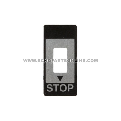 ECHO 89015712330 - DECAL STOP - Image 1