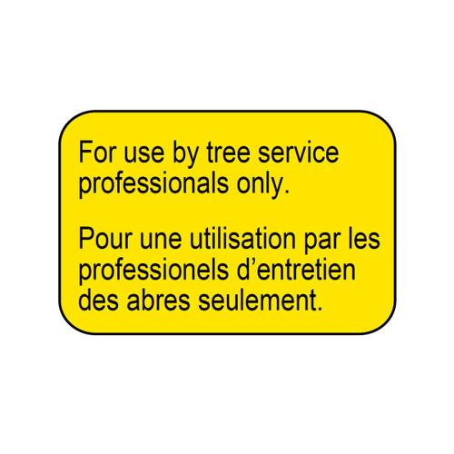 ECHO X505009350 - LABEL CAUTION-PROFESSIONALS - Image 1