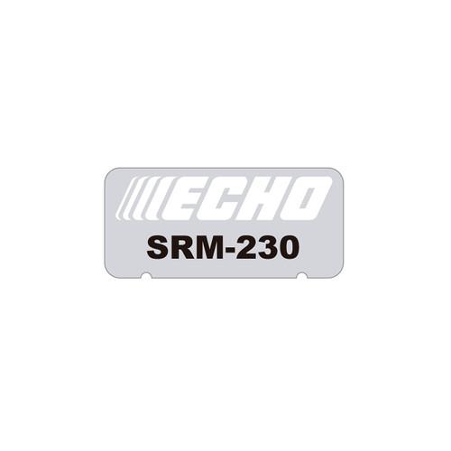 ECHO X547001481 - LABEL MODEL SRM-230 - Image 1