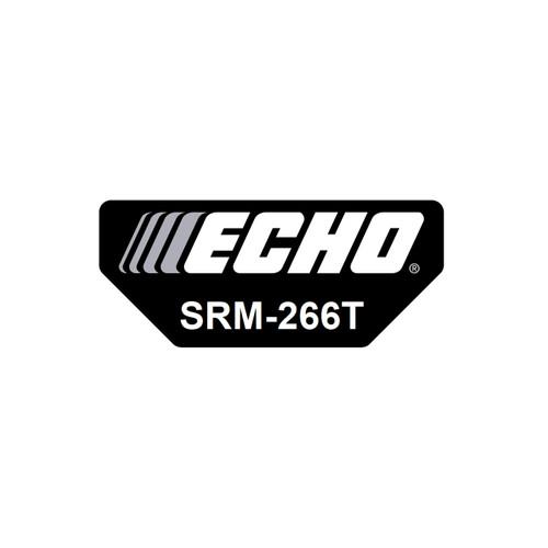 ECHO X547001990 - LABEL MODEL SRM-266T - Image 1