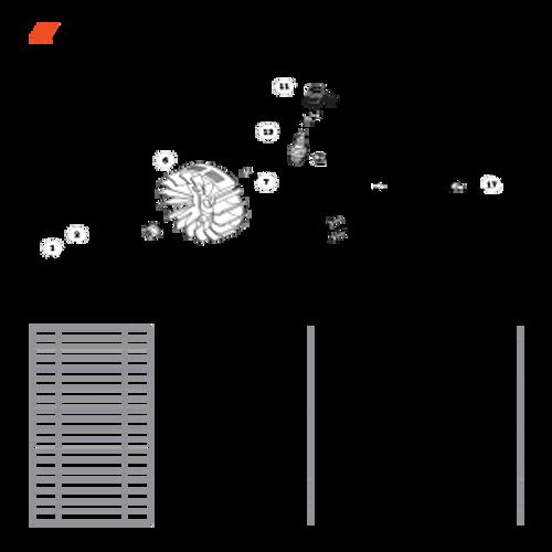 CS-490 SN: C34312001001-C34312999999 - Flywheel, Ignition Parts lookup