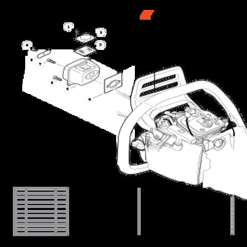 CS-590 SN: C25812001001-C25812999999 - Exhaust Parts lookup