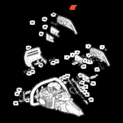 CS-590 SN: C25812001001-C25812999999 - Chain Brake Parts lookup