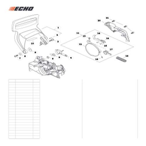 CS-501P SN: C36712001001 - C36712999999 - Chain Brake Parts lookup