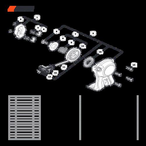 SRM-225 SN: U06012001001 - U06012999999 - Starter Parts lookup
