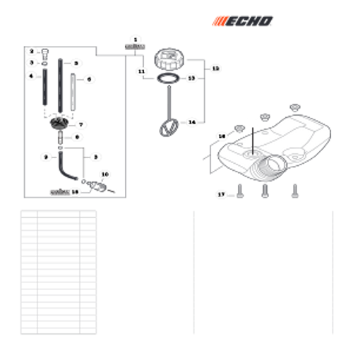 SRM-225 SN: U06012001001 - U06012999999 - Fuel System Parts lookup