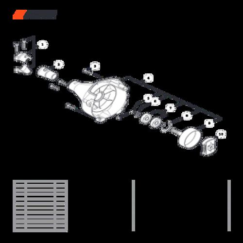 SRM-225 SN: U06012001001 - U06012999999 - Fan Case Parts lookup