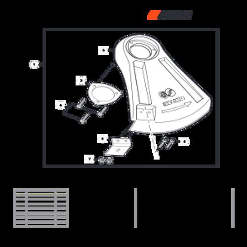 SRM-225 SN: U06012001001 - U06012999999 - Debris Shield Parts lookup