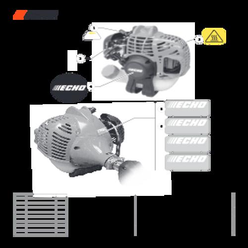 SRM-225 SN: U06012001001 - U06012999999 - Labels Parts lookup