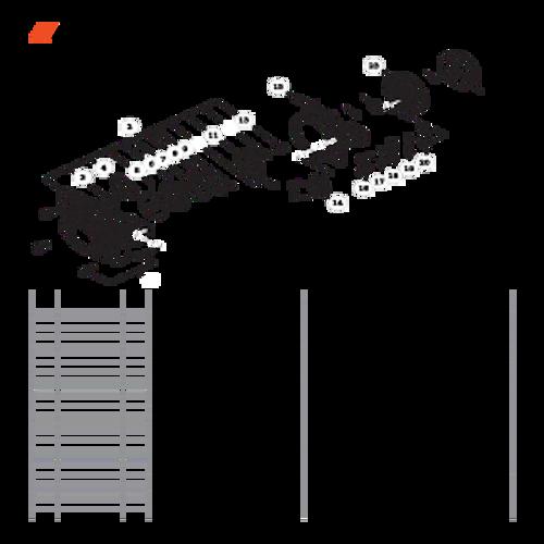 CS-680 SN: C03203001001 - C03203999999 - Recoil Starter, Flywheel Parts lookup
