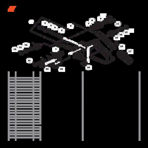 CS-680 SN: C03203001001 - C03203999999 - Rear Handle Parts lookup