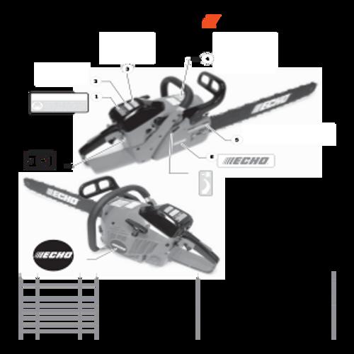 CS-680 SN: C03203001001 - C03203999999 - Labels Parts lookup