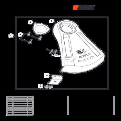 SRM-266T SN: T47714001001 - T47714999999 - Debris Shield Parts lookup