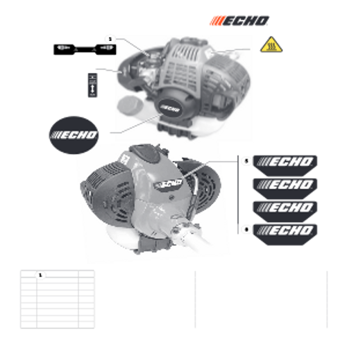 SRM-266T SN: T47714001001 - T47714999999 - Labels Parts lookup