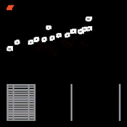 CS-800P SN: C30812001001 - C30812999999 - Recoil Starter Parts lookup
